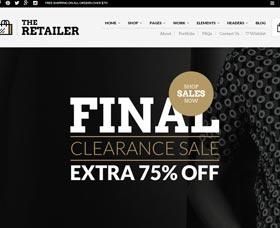 Mejores plantillas WordPress de eCommerce The Retailer