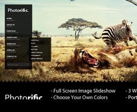 Mejores plantillas WordPress de fotografía: Photorific