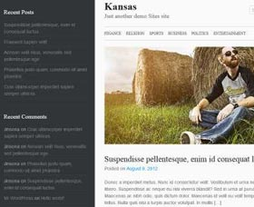 Mejores plantillas WordPress gratis para un blog: Kansas
