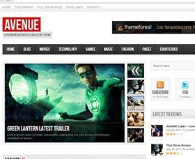 Mejores plantillas WordPress para blog: Avenue