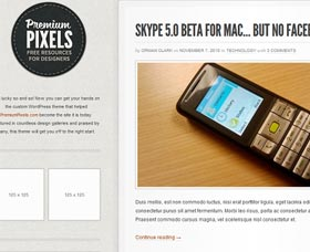 Mejores plantillas WordPress para blogs Premium Pixels