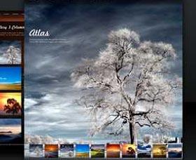 Mejores plantillas WordPress para fotos: Atlas