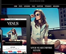 Mejores plantillas WordPress para revistas: Venus