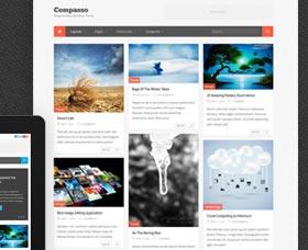 Mejores plantillas WordPress para un blog: Compasso