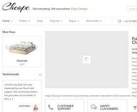 Mejores plantillas WordPress para una tienda: CHEOPE Shop