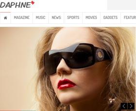 Mejores plantillas para blogs WordPress: Daphne