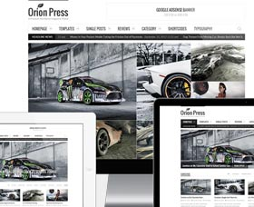 Mejores temas WordPress para noticias: Orion Press