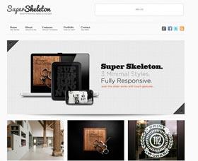 Plantillas WordPress blog: Super Skeleton WP