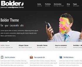 Plantillas WordPress gratis: Bolder