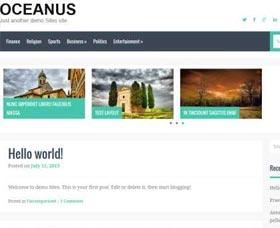 Plantillas WordPress gratis Oceanus