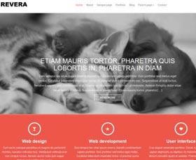 Plantillas WordPress gratis: Revera