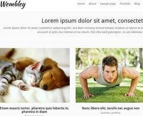 Plantillas WordPress gratis Wembley