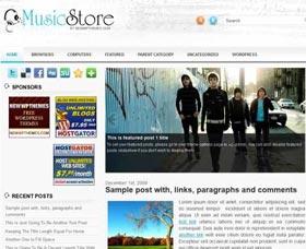Plantillas WordPress gratis para eCommerce: Music Store