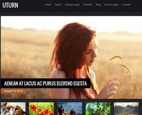 Plantillas WordPress gratis para fotos: Uturn