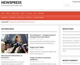 Plantillas WordPress gratis para noticias: NewsPress