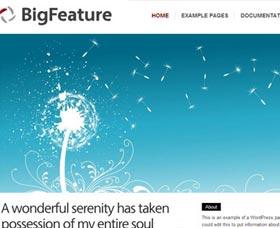 Plantillas WordPress blog: Big Feature