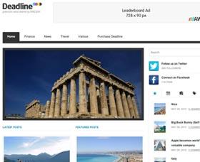 Plantillas WordPress para blog: Deadline