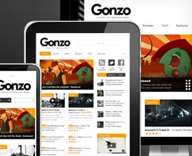 Plantillas WordPress para blog: Gonzo