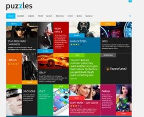 Plantillas WordPress para blogging: Puzzles