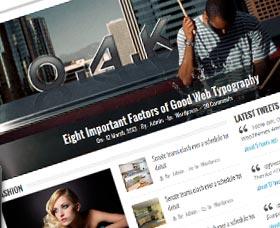 Plantillas WordPress para blogs: EZ-news