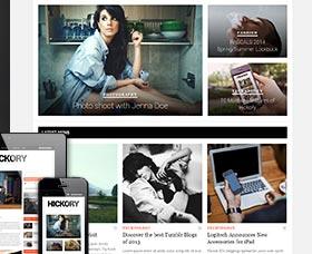 Plantillas WordPress para blogs Hickory