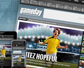 Plantillas WordPress para blogs de deportes: Gameday