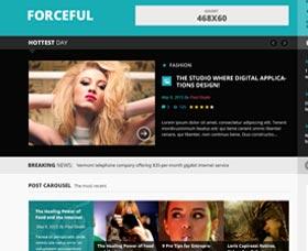 Plantillas WordPress para blogs de mujer: Forceful