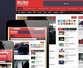 Plantillas WordPress para blogs de tecnología: Rush