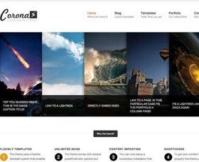 Plantillas WordPress para negocios: Corona