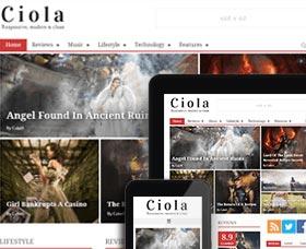 Plantillas WordPress para noticias: Ciola