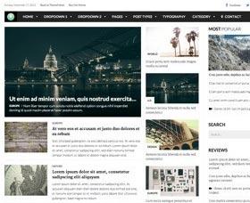 Plantillas WordPress para noticias: Report