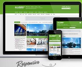 Plantillas WordPress para revistas: Allegro