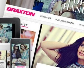 Plantillas WordPress para revistas: Braxton