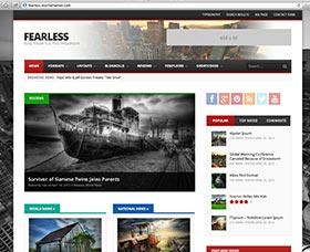 Plantillas WordPress para revistas: Fearless