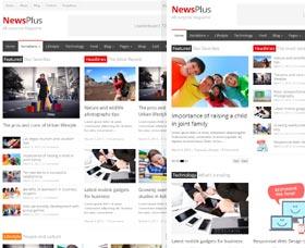 Plantillas WordPress para revistas: NewsPlus