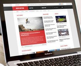 Plantillas WordPress para revistas: Reporter