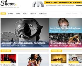 Plantillas WordPress para revistas: Skoon