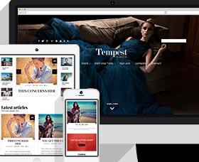 Plantillas WordPress para revistas: Tempest