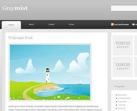 Plantillas gratis WordPress: GrayMist