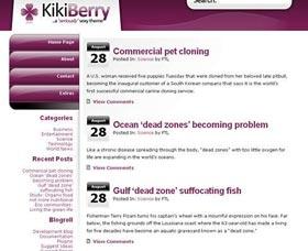 Plantillas gratis WordPress: Kikiberry