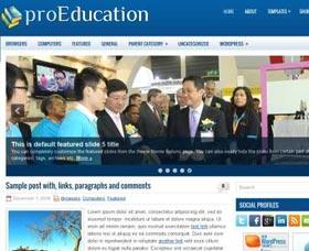 Plantillas gratis WordPress: ProEducation