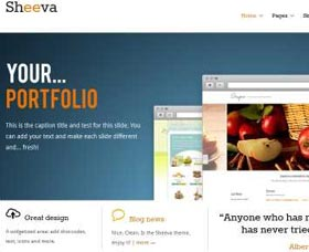 Plantillas gratis WordPress: Sheeva