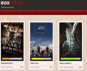 Plantillas gratis WordPress para películas: Box Office