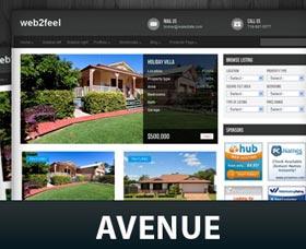 Plantillas gratis WordPress para una inmobiliaria: Real Estate – Avenue