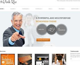 Plantillas gratis WordPress responsive: Pinkrio