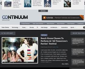 Plantillas para blog WordPress: Continuum