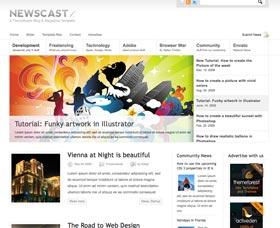 Plantillas para blogs: Newscast 4 in 1