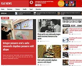 WordPress Plantillas para revistas: Flat News