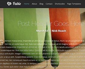 Plantillas WordPress rápidas: Fable