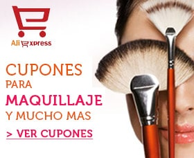 cupones aliexpress maquillaje descuento